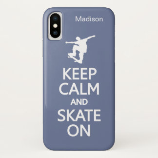 Keep Calm & Skate On custom name & color cases