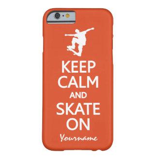 Keep Calm & Skate On custom name & color cases