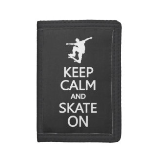 Keep Calm & Skate On wallets