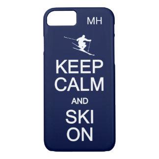Keep Calm & Ski On custom monogram cases