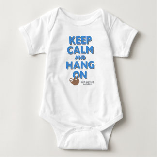 """Keep Calm"" Sloth Sanctuary Onesy Baby Bodysuit"