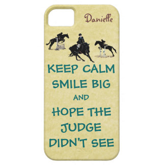 Keep Calm, Smile Big Equestrian iPhone 5 Case