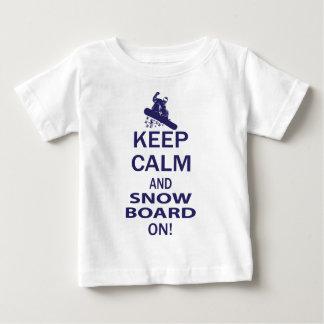 KEEP-CALM-SNOW-BOARD ON BABY T-Shirt