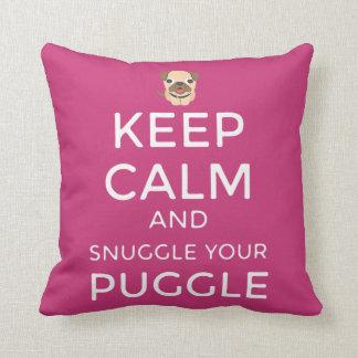 Keep Calm & Snuggle Your Puggle PILLOW Customized!