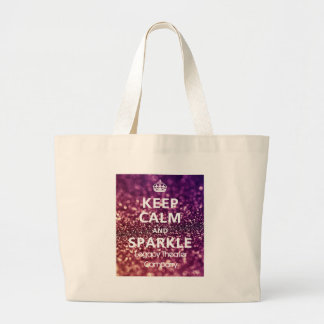 Keep Calm & Sparkle Large Tote Bag