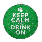 Keep Calm St Patricks Day Humour Dartboard