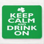 Keep Calm St Patricks Day Humour Mousepads