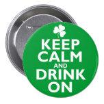 Keep Calm St Patricks Day Humour Pin