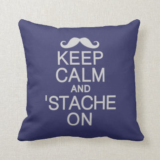 Keep Calm & 'Stache On custom pillow