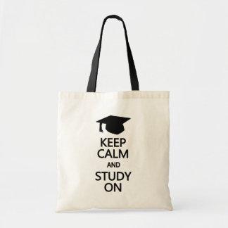 Keep Calm & Study On bag - choose style, color