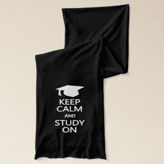 Keep Calm & Study On scarfs Scarf