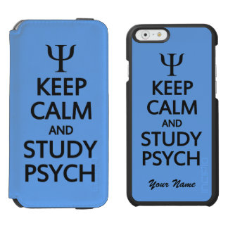 Keep Calm & Study Psych custom color & text cases Incipio Watson™ iPhone 6 Wallet Case