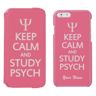 Keep Calm & Study Psych custom color & text cases Incipio Watson™ iPhone 6 Wallet Case