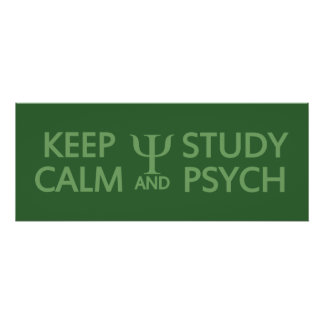 Keep Calm & Study Psych custom poster