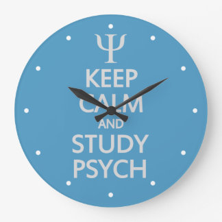 Keep Calm & Study Psych custom wall clock