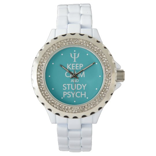 """Keep Calm & Study Psych"" custom watches"
