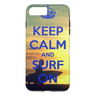 Keep calm & Surf on iPhone 7 Plus phone case