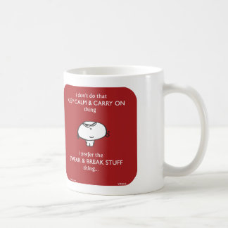keep calm swear break stuff coffee mug