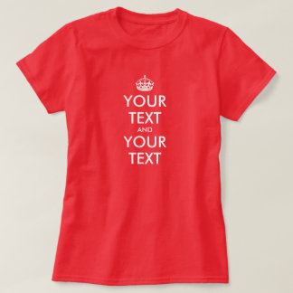 Keep calm t-shirt maker