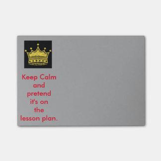 Keep Calm Teachers Post-it Notes