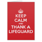 Keep Calm Thank Lifeguard Greeting Note Card
