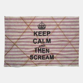Keep Calm & Then Scream Kitchen Towels