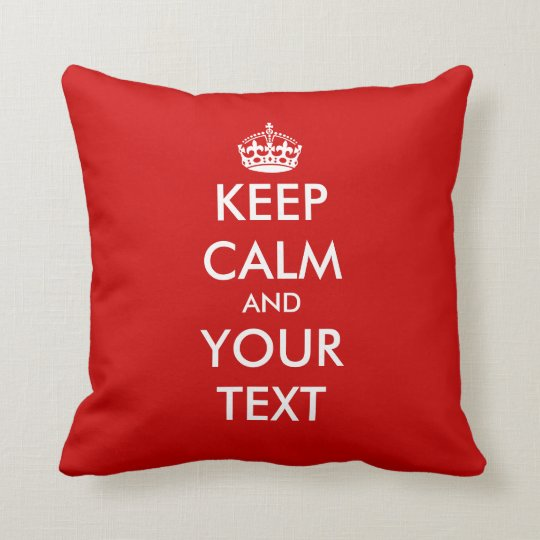 Keep calm throw pillow | Customizable template