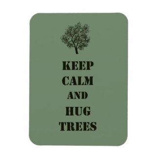 Keep Calm Trees Rectangular Photo Magnet