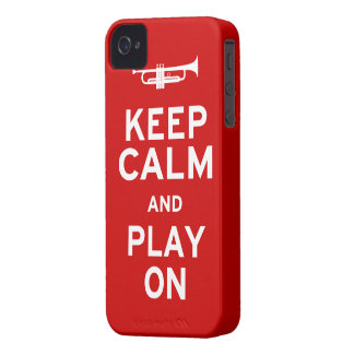 Keep Calm Trumpet Case-Mate iPhone 4 Case