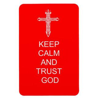 Keep Calm Trust God Magnet