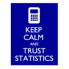 Keep Calm Trust Statistics postcard