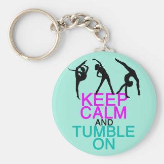 Keep Calm Tumble On Gymnastics Keychain