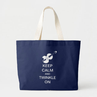 Keep Calm Twinkle On Violin Music Tote Bag