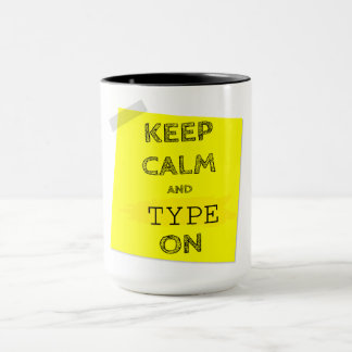 Keep Calm & Type On Mug