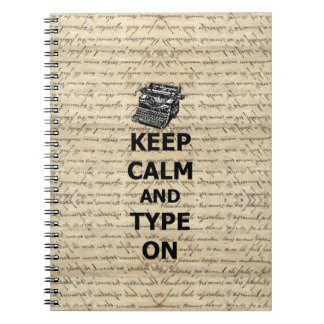 Keep calm & type on notebooks