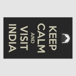 keep calm visit india sticker