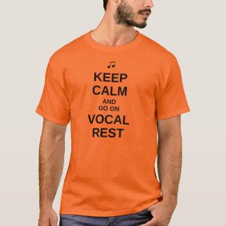 """""""Keep Calm"""" Vocal Rest T-Shirt - Dark Text"""
