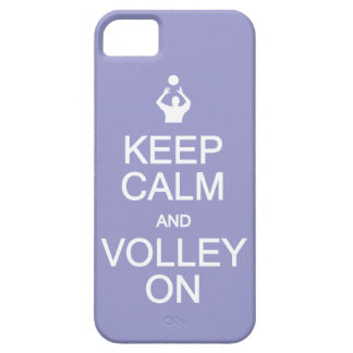 Keep Calm & Volley On custom color iPhone case