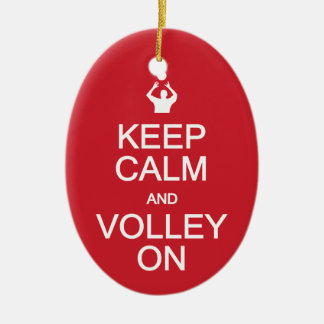 Keep Calm & Volley On custom ornament