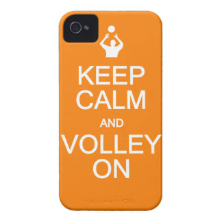 Keep Calm & Volley On iPhone 4 Case-Mate Case-Mate iPhone 4 Cases