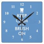 Keep Calm wall clock for dentist practice