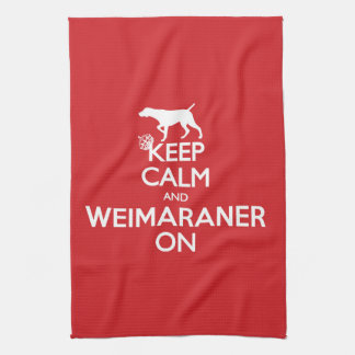 KEEP CALM WEIMARANER TEA TOWEL