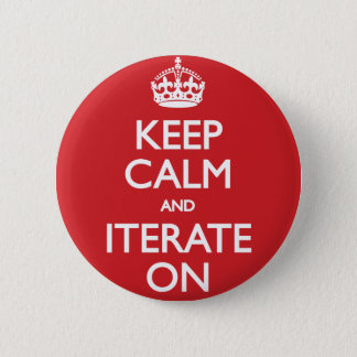 Keep calm wild duck iterate on 2 inch round button