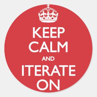 Keep calm wild duck iterate on classic round sticker