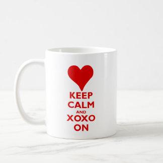 Keep Calm with Hugs and Kisses Coffee Mug