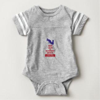 Keep Calm with Human Stupidity Baby Bodysuit