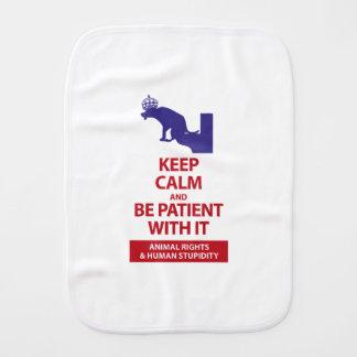 Keep Calm with Human Stupidity Burp Cloth