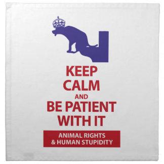 Keep Calm with Human Stupidity Napkin