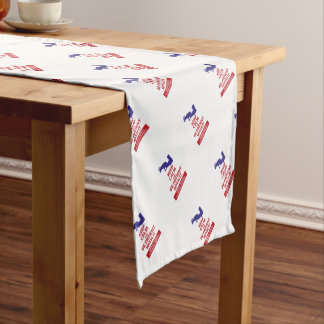 Keep Calm with Human Stupidity Short Table Runner