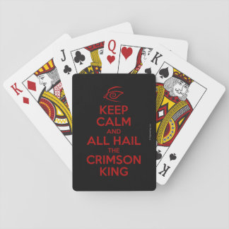 Keep Calm with the Crimson King Poker Deck
